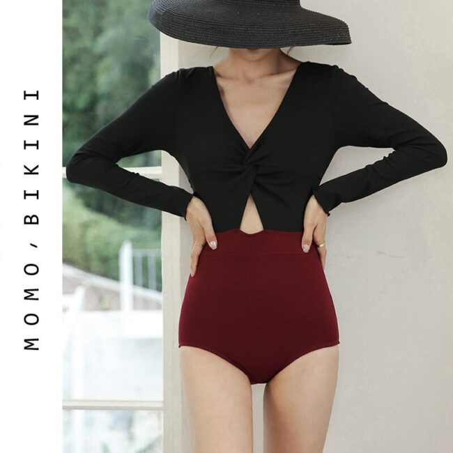 One-piece Long Sleeve Bathing Suit  1