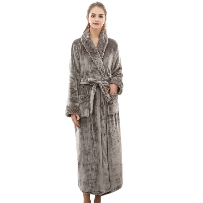 Flannel robe  1