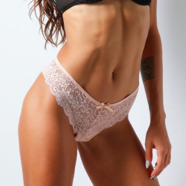 Lace Low-Rise G-String Thong  1