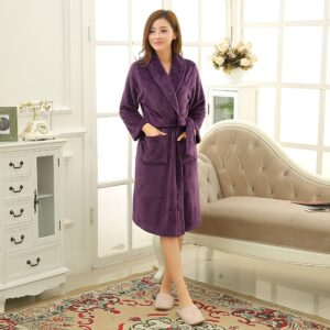 Coral Fleece Long Bathrobe  1