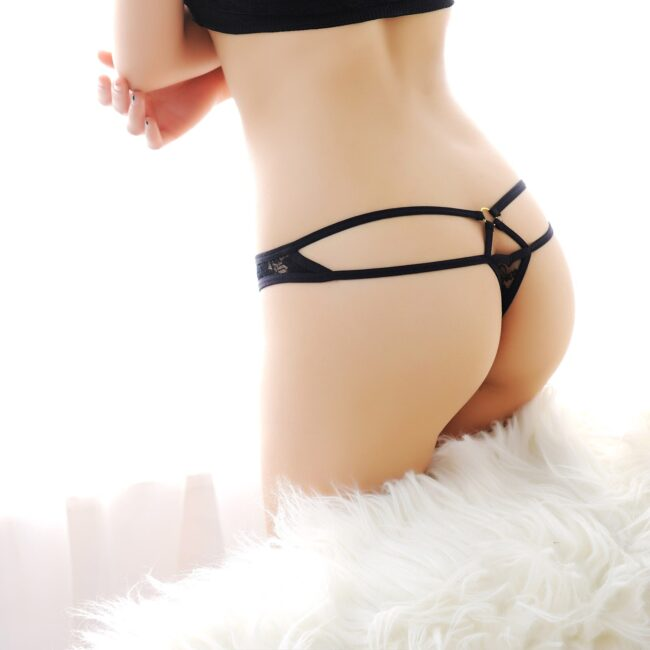 Lace Hollow Low Waist Thong 4