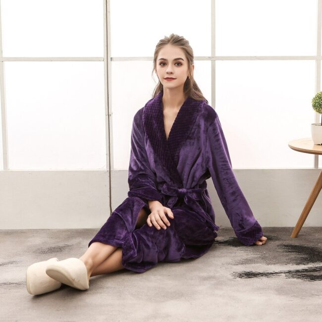 Flannel robe  6