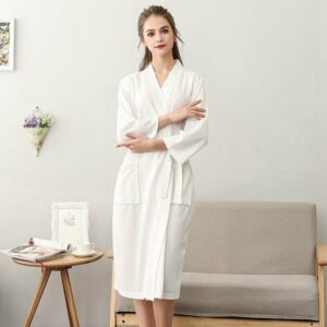 Waffle Shower Sleepwear Couple Robe 2