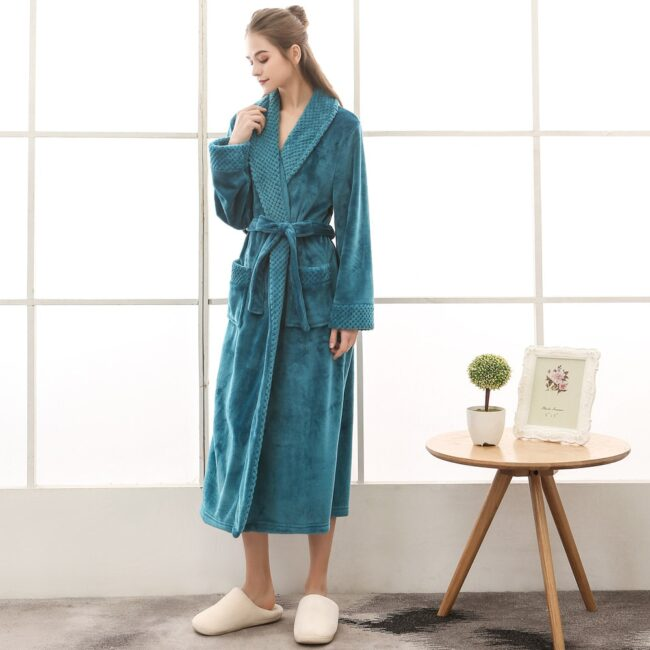 Flannel robe  2