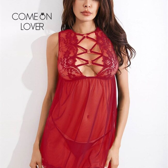 Lace Hollow Out Babydoll  1
