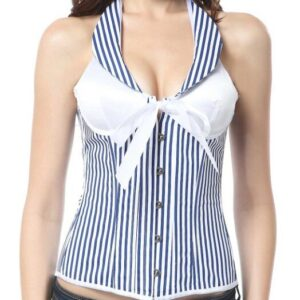 Striped Halter Corset  2