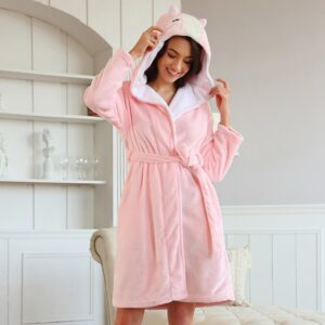 Long Sleeve Flannel Robe  7