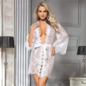 Long Sleeve Bridal Robe  2