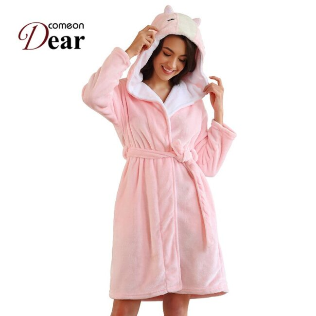 Long Sleeve Flannel Robe  1