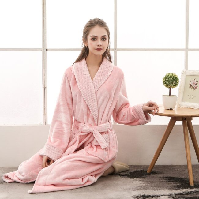 Flannel robe  5
