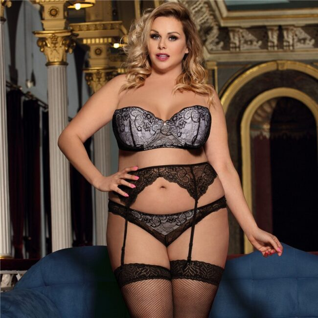 3 piece Lace Lingerie - Plus Size  7