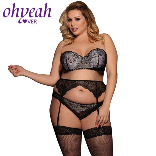 3 piece Lace Lingerie - Plus Size  2