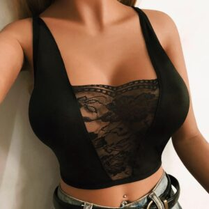 Hollow Out Elastic Cage Bra 2