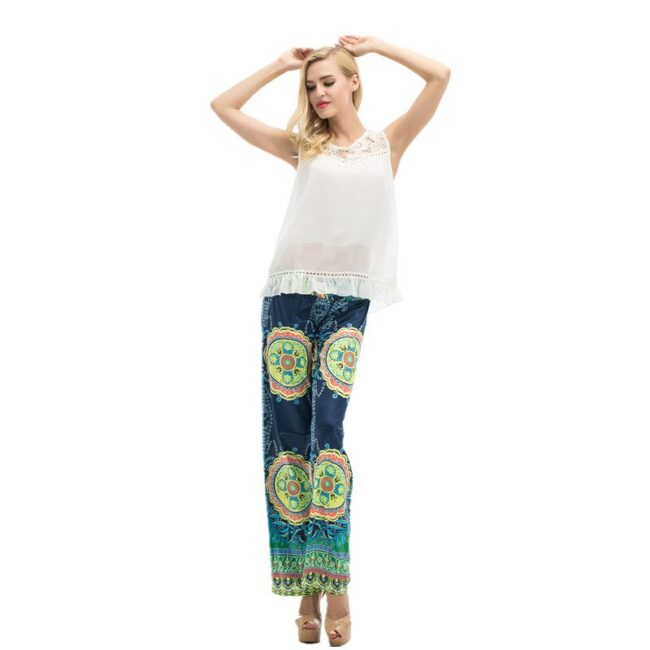 Long Stretch Straight Wide Pants  2