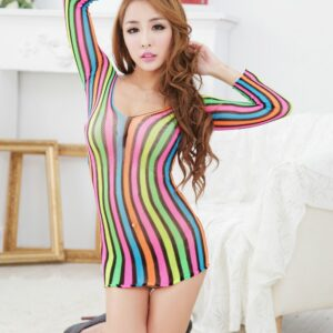 Colorful Vertical Stripes lingerie  2