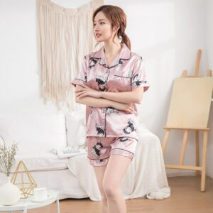 Satin Short Sleeve Pajama 3