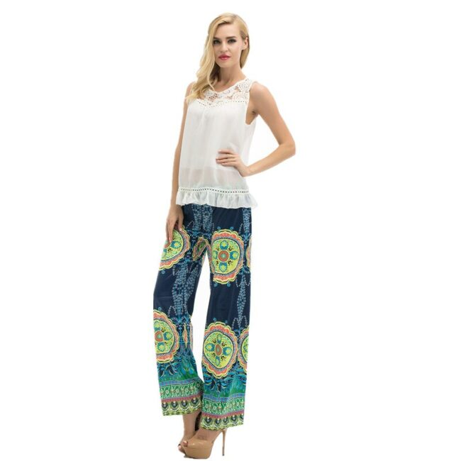 Long Stretch Straight Wide Pants  4