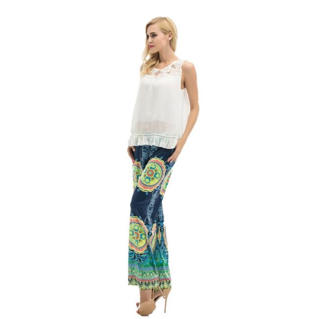 Long Stretch Straight Wide Pants  3