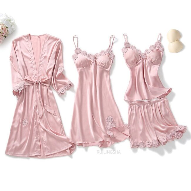 5 Pieces Satin Sleepwear 2